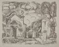 Chapel and Fountain in Levanto (Kapelle und Brunnen in Levanto), 1965, lithograph, 54 x 66,3 cm
