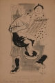 Da hoast dos mal-heur, I hoab glei gesagt, du sollst mei SA-Hemden net umfärben!, 1949, Tusche auf Papier, 39,5 x 26,5 cm
