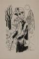 Blinder Heimkehrer, 1948, Tusche auf Papier, 40,7 x 27,8 cm