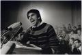 Rudi Dutschke bei einer Rede, 1967/1990, späterer Silbergelatineabzug, 26,1 x 38,6 cm