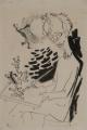 Selbstbildnis, 1946, Feder und Tusche auf Papier, 48,5 x 32,5 cm