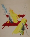 Fifty-Fifty. Das ist der Lauf der Welt?, 1947, Originalentwurf für Ulenspiegel Nr. 18, 1947, Pinsel, Bunt-/ Bleistift und Tusche auf Papier, 49,5 x 40 cm
