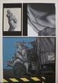 Unfall, 1970/1971, Kunstharz auf Nessel, 112 x 93 cm