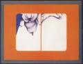 Scratch (Kratzer), 1968, oil and acrylic on nettle fiber, 85 x 110 cm