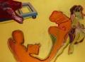 Shadows on Terrace (Schatten auf Terrazza), 1984, oil on canvas, 150 x 205 cm