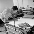 Gerhard Richter, bei Domberger, Stuttgart, 1967, Handabzug auf Barytpapier, 25 x 25 cm