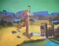American Landscape Salt Lake, 1988, Öl auf Leinwand, 130 x 165 cm