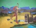 American Landscape Salt Lake, 1988, oil on canvas, 130 x 165 cm