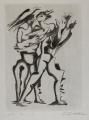 """Blatt aus der Mappe """"Guillaume Apollinaire, Sept Calligrammes"""", 1967, Radierung auf Japon Nacré, 31,5 x 22,5 cm"""
