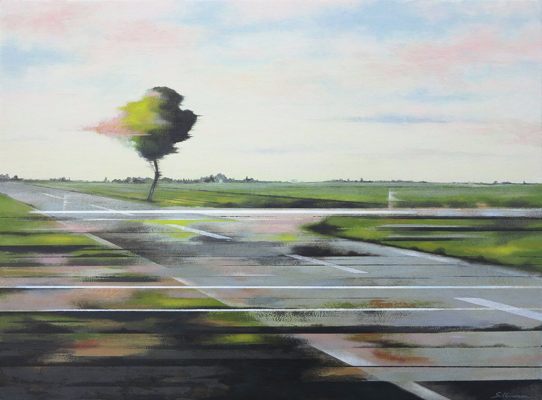 Andreas Silbermann, Eisenhüttenstadt, 2018, Öl auf Leinwand auf Holz, gerahmt, 40 x 54 cm