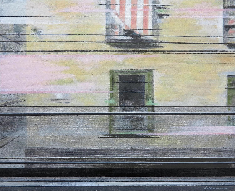 Andreas Silbermann, Napoli, 2016-17, Öl auf Leinwand auf Holz, gerahmt, 30 x 37,5 cm