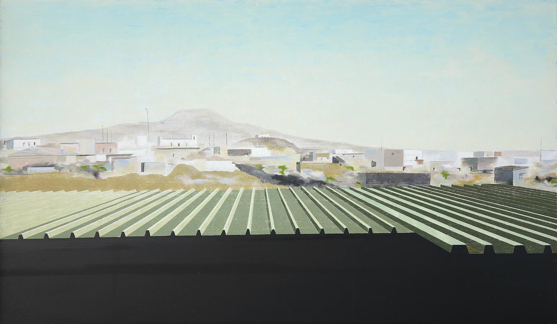 Andreas Silbermann, Torre Annunziata, 2016-17, Öl auf Holz, gerahmt, 40 x 70 cm
