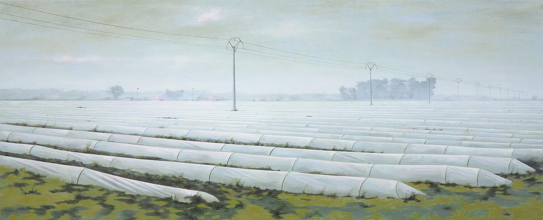Andreas Silbermann, Veneto,2019, Öl auf Leinwand, gerahmt,60 x 150 cm