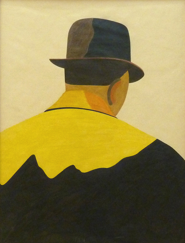 Eduardo Arroyo, Schauspieler, 1975, Farbstift auf getöntem Papier, 65 x 50 cm