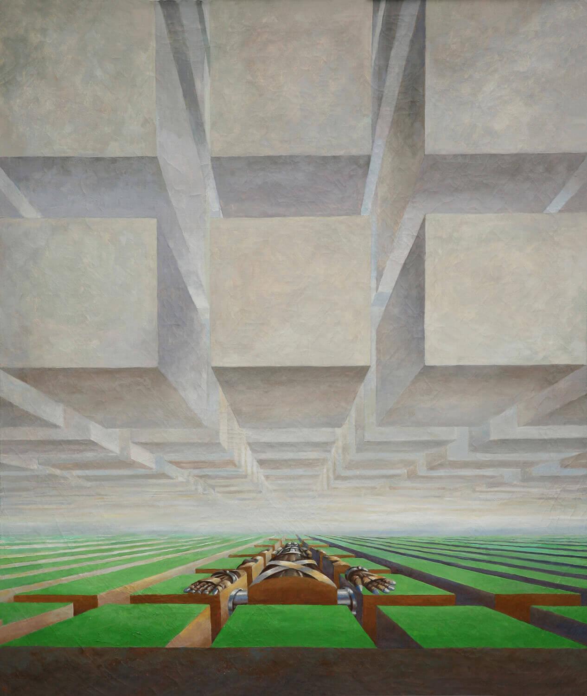 Bettina von Arnim, Fuba, 2008, Öl auf Leinwand, 134,5 x 115 cm