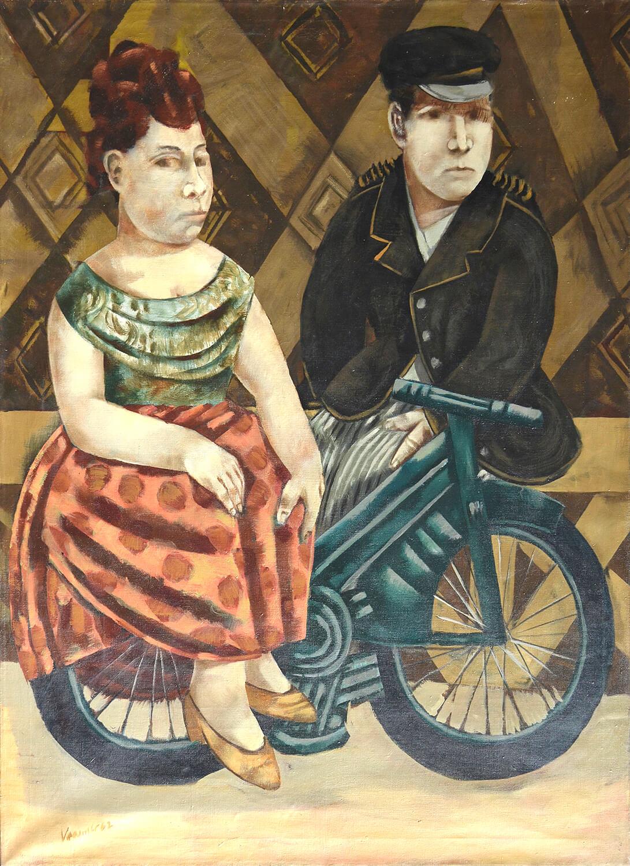 Dieter Kraemer, Das Rendezvous, 1962, Öl auf Leinwand, 135 x 100 cm