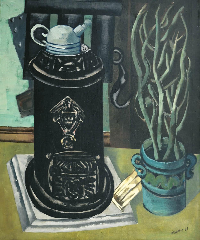 Dieter Kraemer, Ofenbild, 1963, Öl auf Leinwand, 98 x 80,5 cm