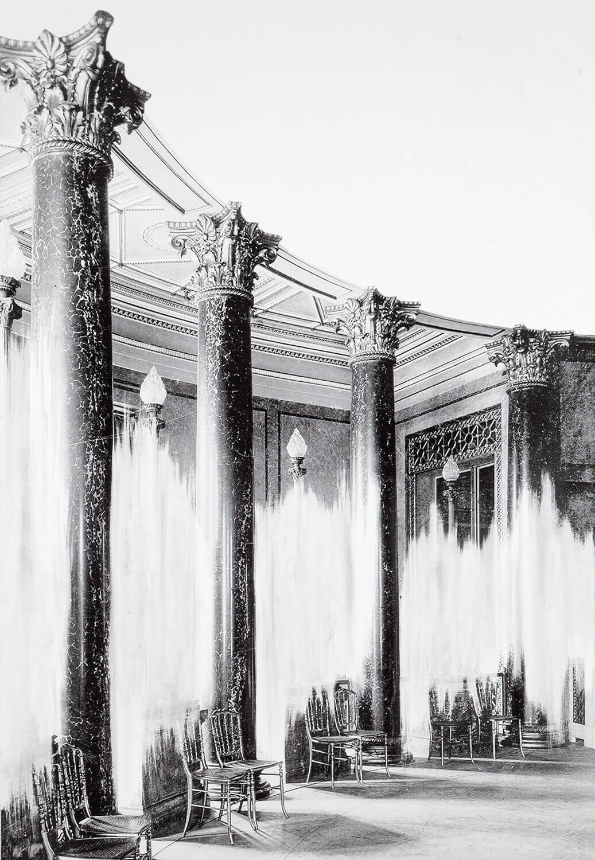 Daniel Poller, Schlossbewohner (aus: Der große Gewinn), 2017, manuell ausgelöschter Pigmentprint, 160 x 110 cm