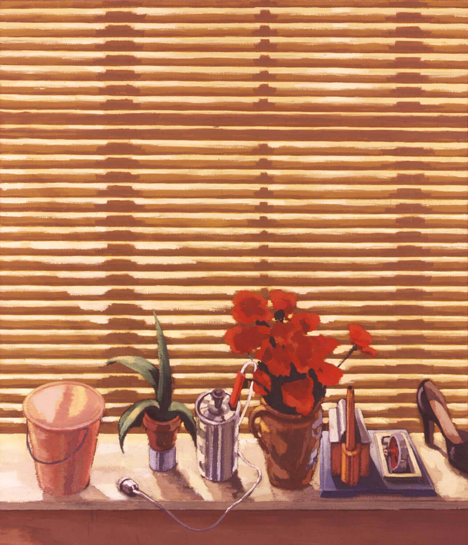 Hermann Albert, Hommage a Renato, 1977, Tempera auf Leinwand, 160 x 130 cm