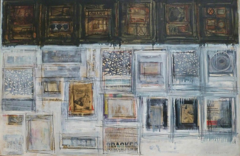 Herbert Kaufmann, Caposite, 1963, Mischtechnik und Collage auf Leinwand, 100 x 150 cm