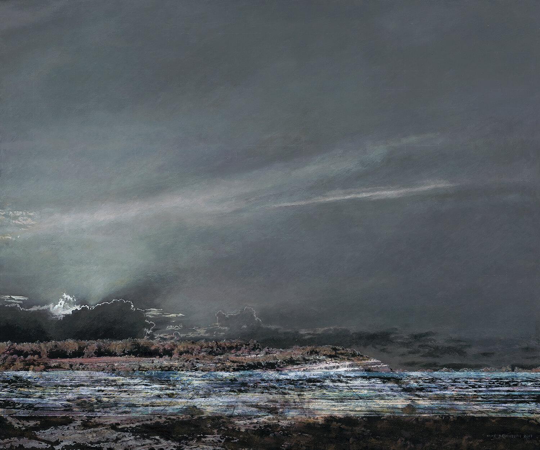 Heike Negenborn, Causse de Millau, 2013, Acryl auf Holz, 64 x 76 cm