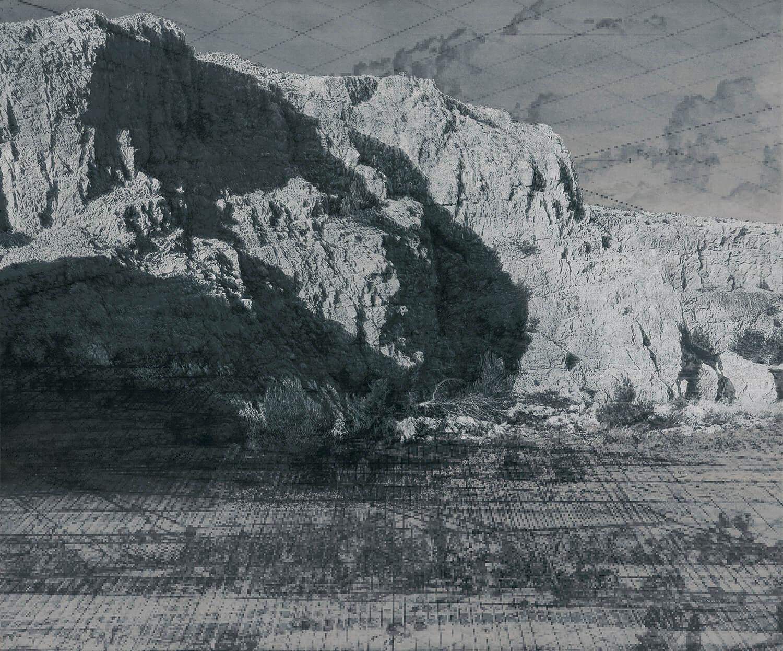 Heike Negenborn, Netscape 5, Landschaft im Wandel, 2019, Acryl und Mischtechnik auf Leinwand, 130 x 155 cm