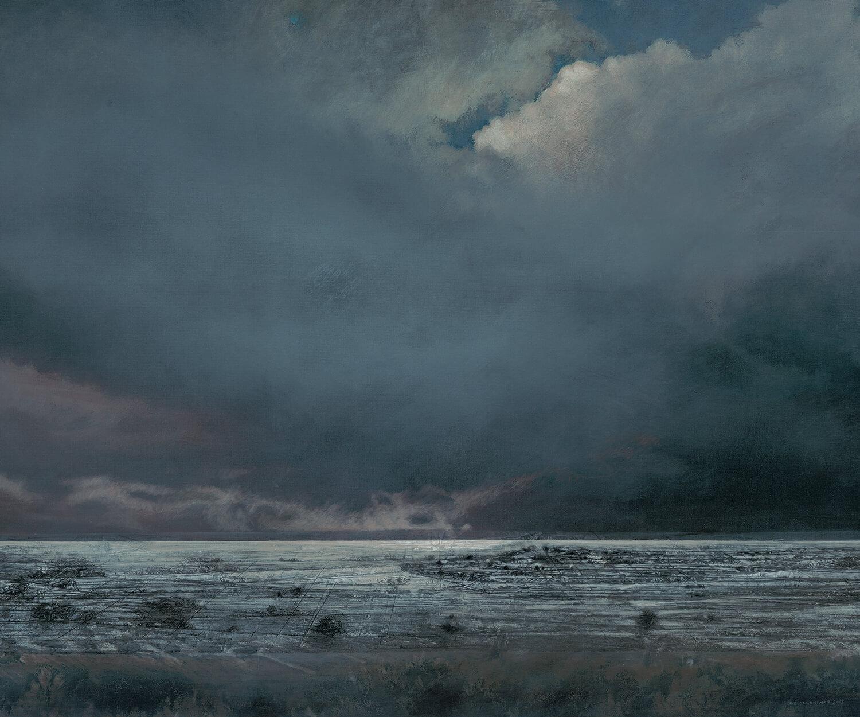 Heike Negenborn, Skyscape 12, 2013, Acryl auf Leinwand, 105 x 125 cm