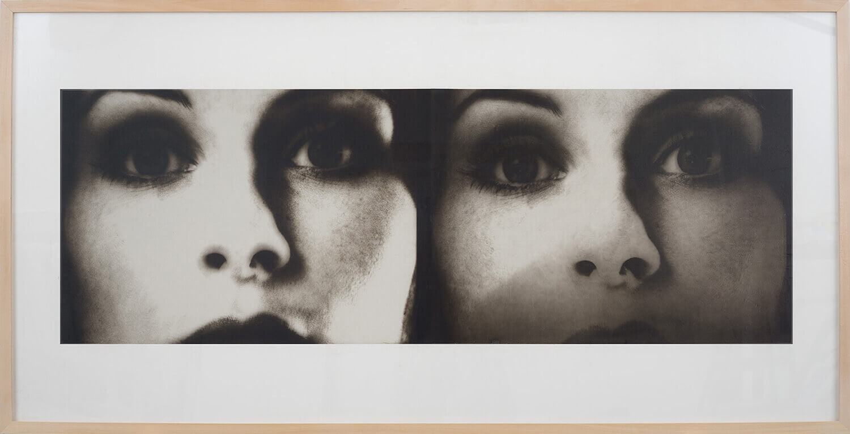 Jenö Gindl, Twins, 2015, Palladiotypie auf Japanpapier, kaschiert auf Bütten, gerahmt, 100 x 200 cm