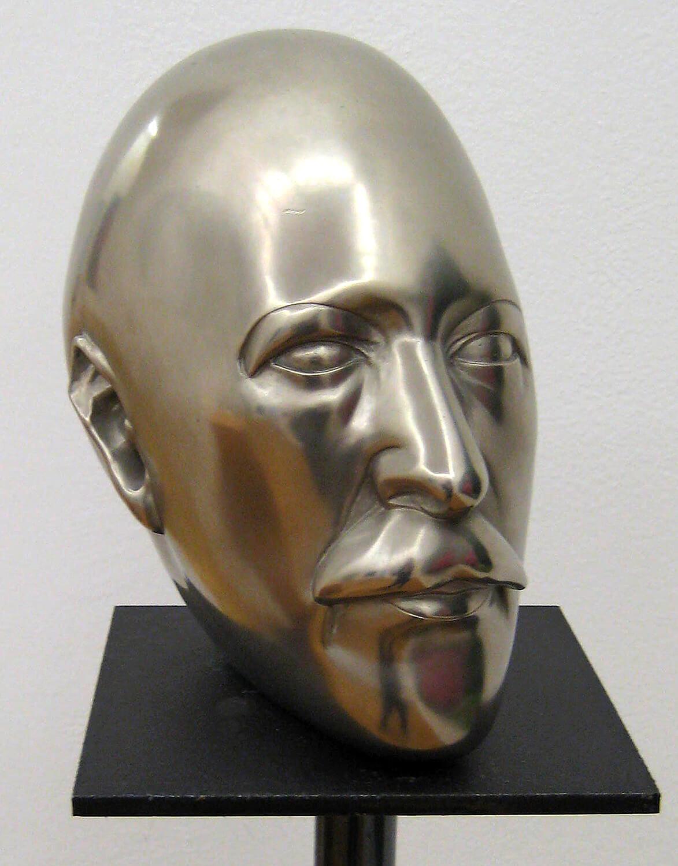 Joachim Schmettau, Kopf Leiv Donnan II, 1972, Bronze, vernickelt, 25 x 25 cm