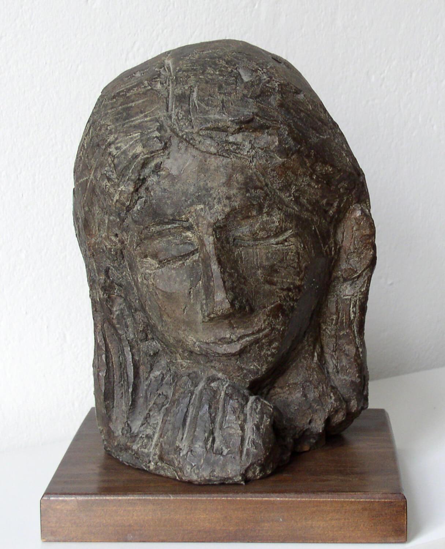 Genni / Jenny Wiegmann-Mucchi, Junge Frau (Kopf auf Hand gestützt), 1946, Bronze, Höhe 30 cm