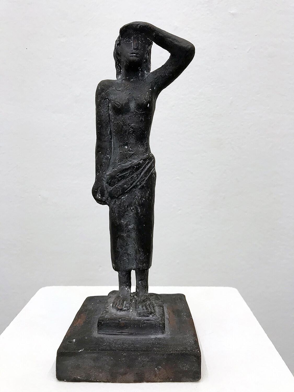 Genni / Jenny Wiegmann-Mucchi, Mädchen in der Sonne, 1933, Bronze, Höhe 24,50 cm