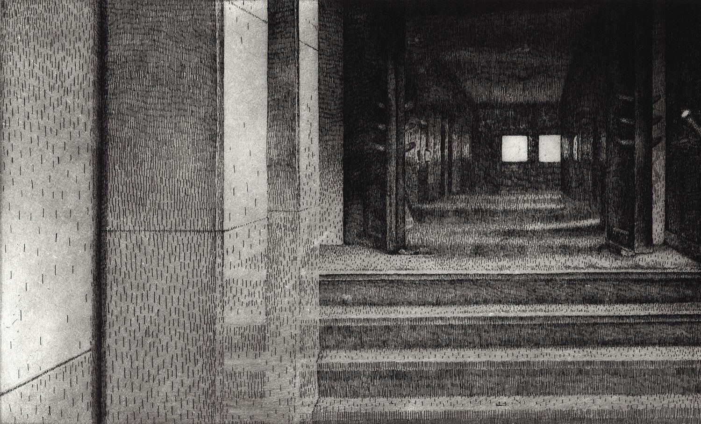 ORLANDO, Freiheit I, 2014, Radierung, 25,5 x 45 cm