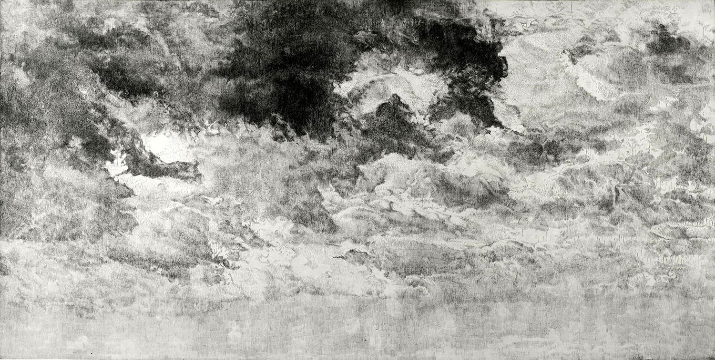 ORLANDO, Sehnung (Fragment III), seit 2010, Radierung, 90 x 175 cm