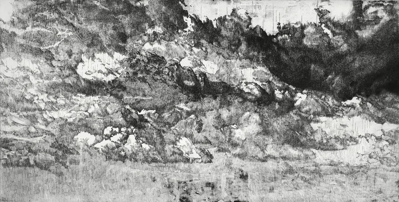 ORLANDO, Sehnung (Fragment I), seit 2010, Radierung, 90 x 175 cm