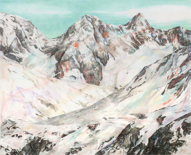 Martina Altschäfer, Alto, 2014-15, Farbstift und Pastell auf Papier, 126 x 160 cm