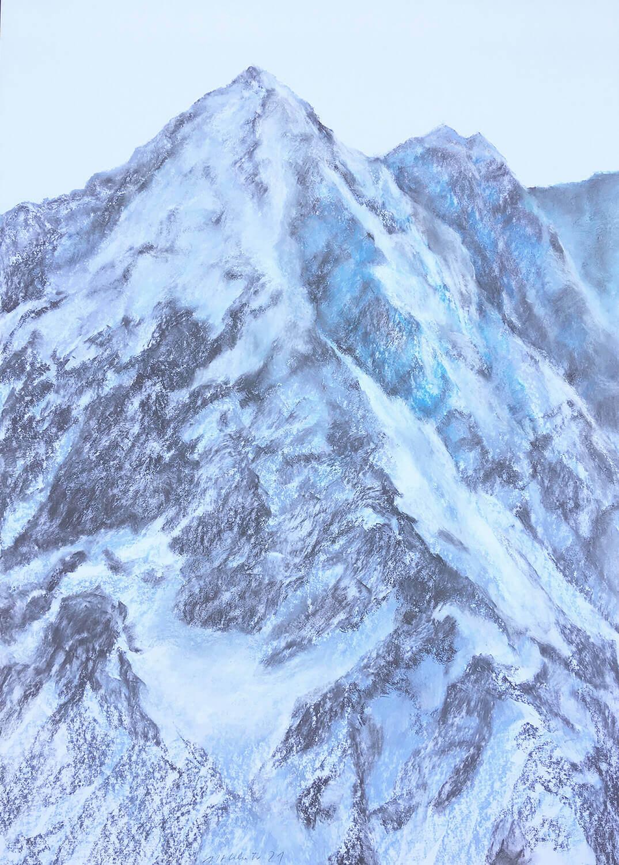 Martina Altschäfer, Gotthard 1, 2021, Pastell auf Papier, 100 x 70 cm