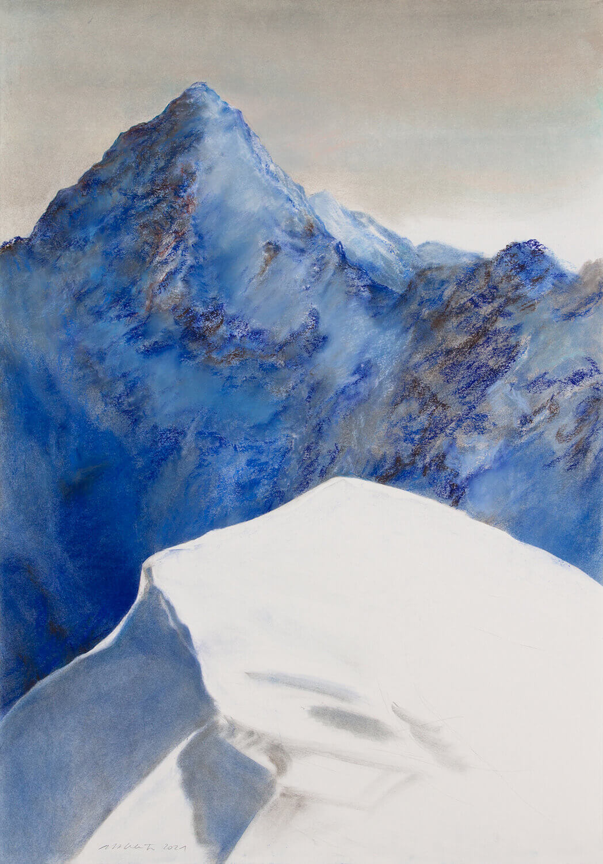 Martina Altschäfer, Lenk II, 2021, Pastell auf Papier, 100 x 70 cm