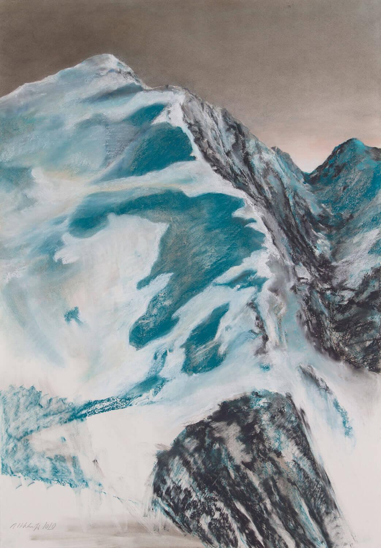 Martina Altschäfer, Lenk I, 2020, Pastell auf Papier, 100 x 70 cm