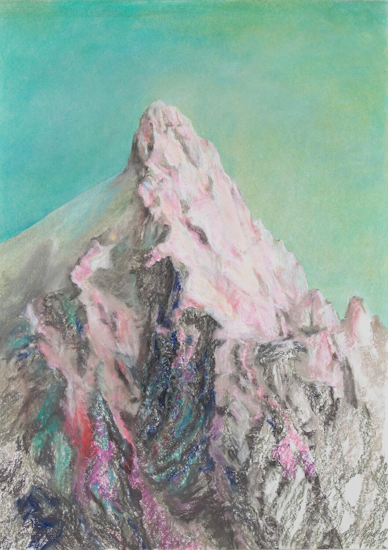 Martina Altschäfer, Wildhorn II, 2021, Pastell auf Papier, 100 x 70 cm