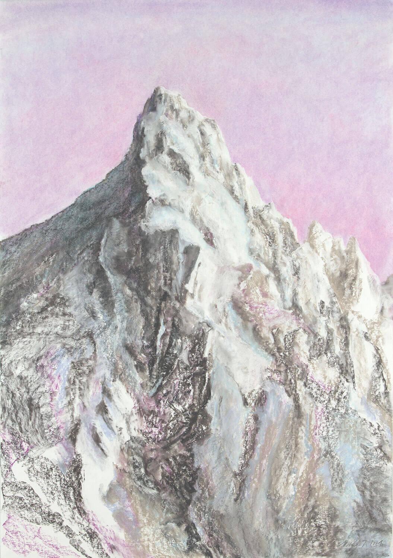 Martina Altschäfer, Wildhorn I, 2021, Pastell auf Papier, 100 x 70 cm