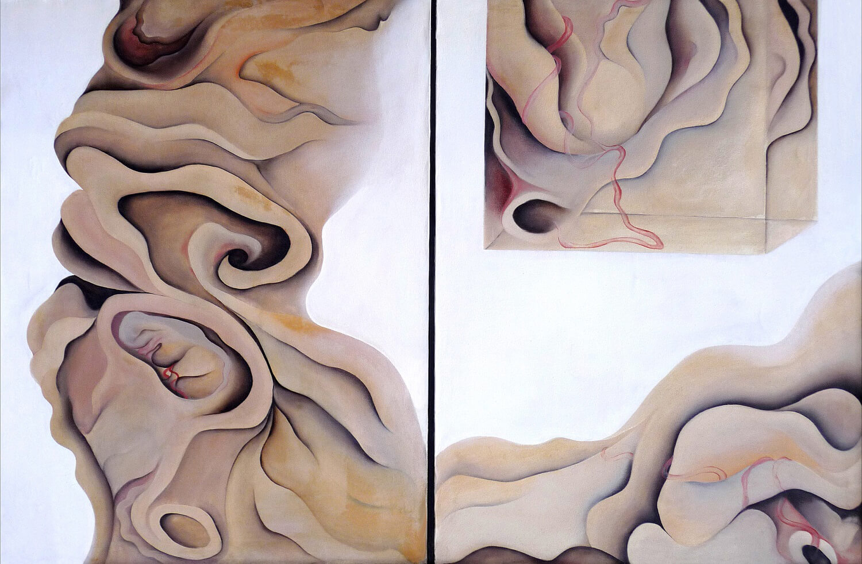 Maina-Miriam Munsky, Fertilität, 1967, Acryl auf Nessel, 121 x 182 cm
