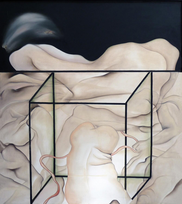 Maina-Miriam Munsky, Geburt II, 1967, Acryl auf Nessel, 136 x 120 cm