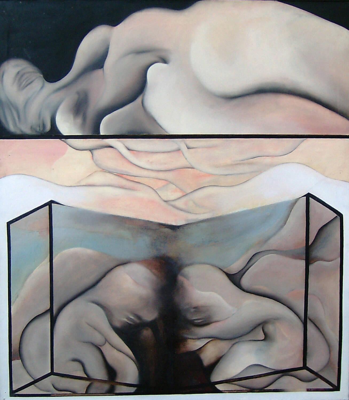 Maina-Miriam Munsky, Geburt IV, 1967, Acryl auf Nessel, 136 x 120 cm