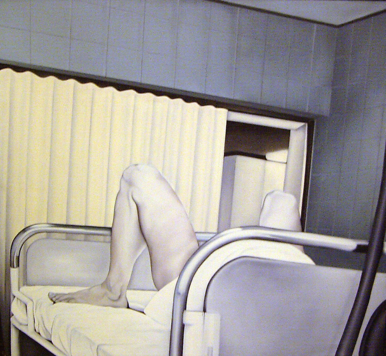 Maina-Miriam Munsky, Kabine I, 1971, Acryl auf Nessel, 116 x 105 cm