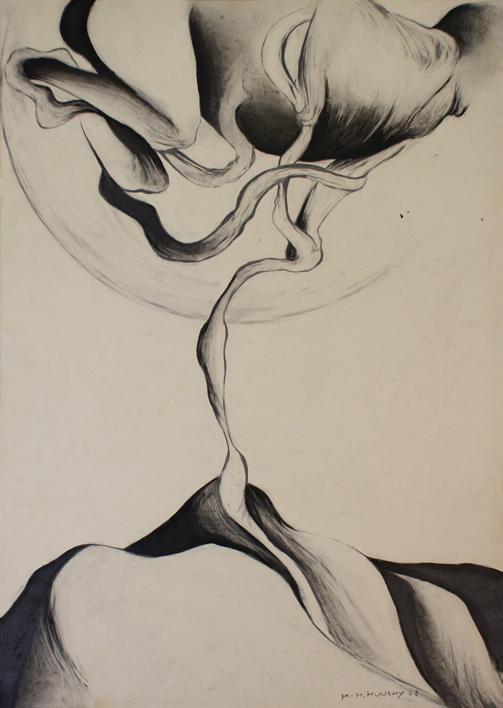 Maina-Miriam Munsky, o. T. (II), 1968, Bleistift auf Papier, 61 x 43 cm