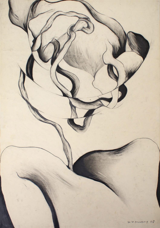 Maina-Miriam Munsky, o. T. (I), 1968, Bleistift auf Papier, 61 x 43 cm