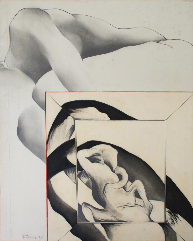 Maina-Miriam Munsky, o. T. (VIII), 1968, Blei- und Farbstift auf Papier, 62,2 x 49,4 cm