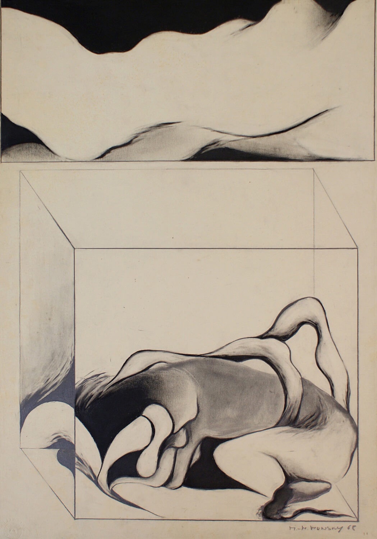 Maina-Miriam Munsky, o. T. (VII), 1968, Bleistift auf Papier, 62,5 x 43,9 cm
