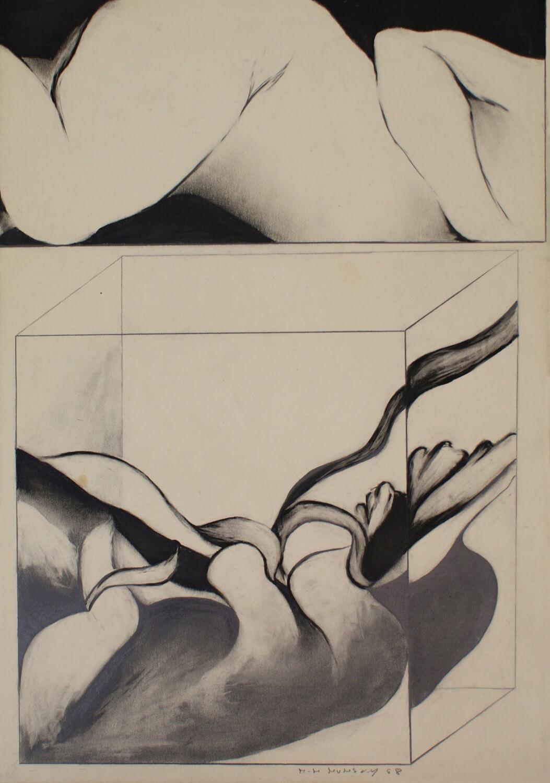Maina-Miriam Munsky, o. T. (VI), 1968, Bleistift auf Papier, 62,4 x 43,9 cm