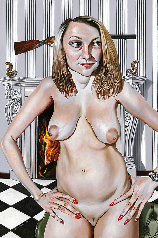 Norbert Wagenbrett, Diane, 2014, Öl auf Leinwand, 150 x 100 cm